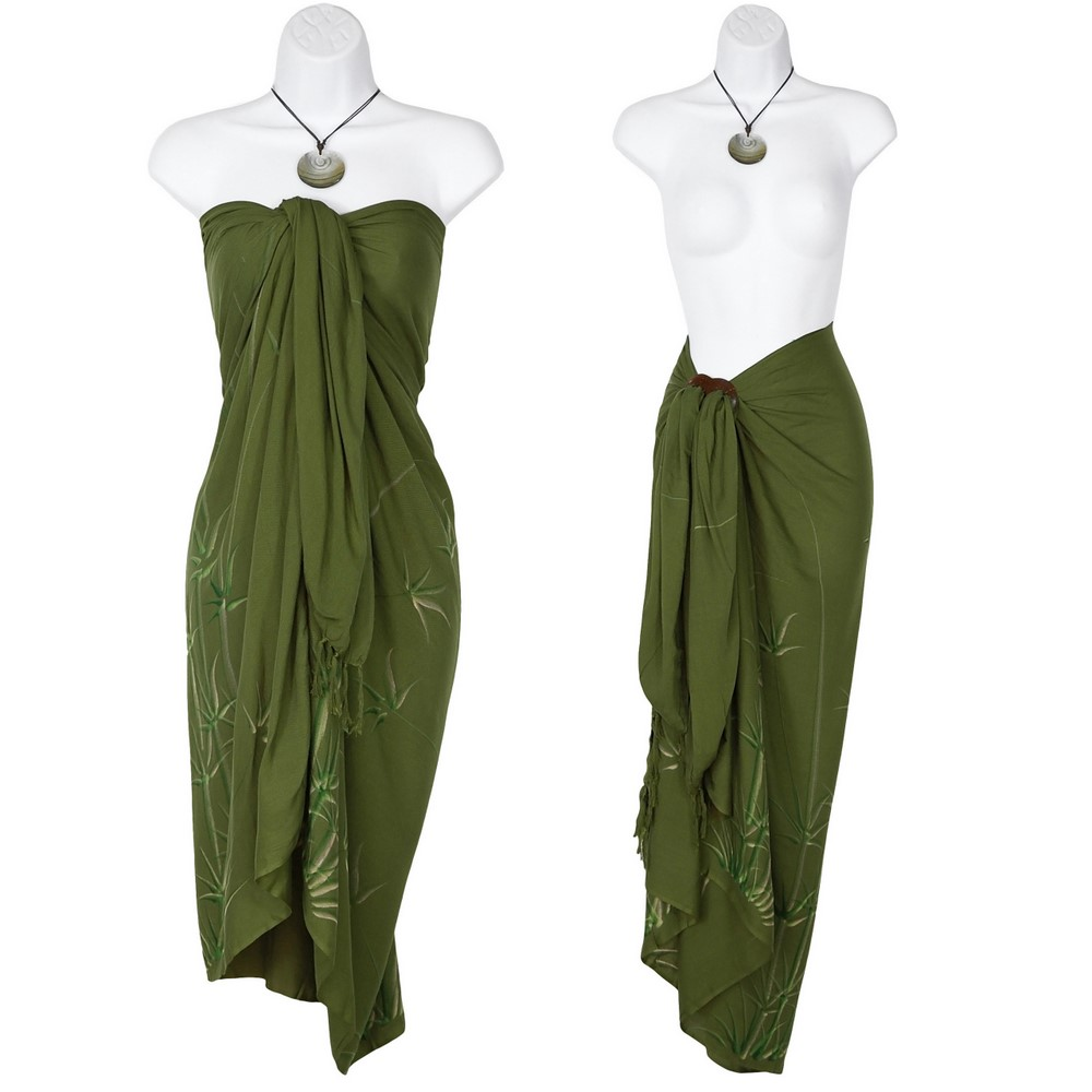 Bamboo Sarong in Olive Green - BeachLife4Life 5c641ca6c